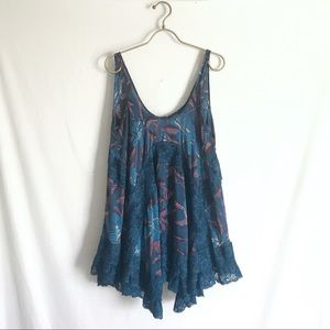 Free People - Lace Tent Dress Tank Top Oversized